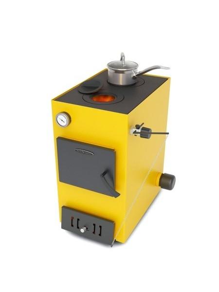 Котел водогрейный ТАШКЕНТ ЛАЙТ, 16кВт, с возможностью установки автоматического регулятора тяги и трубчатого электронагревателя, с чугунной варочной поверхностью, желтый (14400)